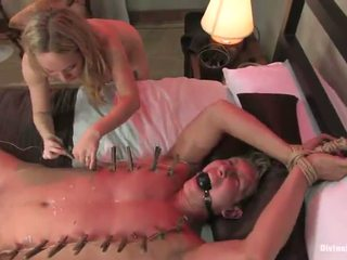 Blonde Vixen Aiden Starr Dominates And Tortures Male For Pegging Funtime
