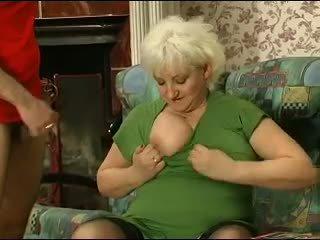 Blond grannie - punishment turns in sex