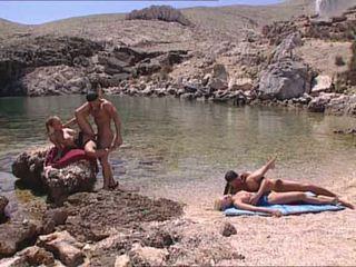 性感 blondes 性交 在 希臘語 island 視頻