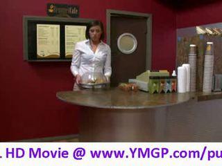 Brooke lee adams as the cashier