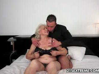 granny, blowjob, big tits