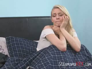 Horny Step Family Enjoys A Big Cock In A Threesome