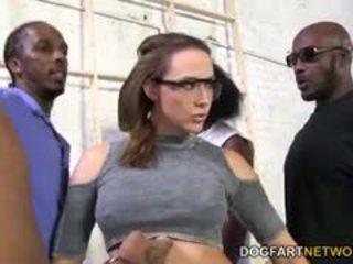 Chanel preston gets szar által egy crew a fekete men