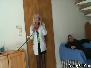 Lad Picks Up Blonde Grandmother And Bangs Her