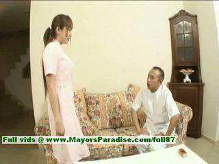 Myuu hasegawa innocent ganska kinesiska flicka gets teased