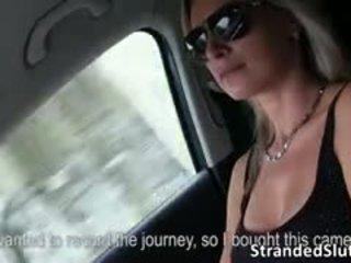 Alena Gets Hard Action Inside A Car