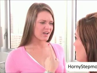 Abby Cross and Diamond Foxx pounded and sharing cum