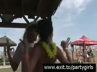 Public Party with horny drunk Teens Vi...