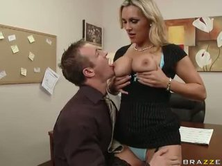 British MILF Tanya Tate Having Sex In The Office Video
