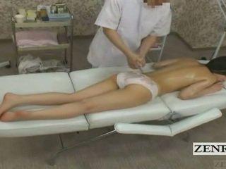 Subtitled cmnf enf 日本語 ティーン 女子生徒 尻 マッサージ