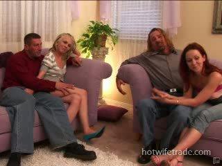 Swinger wives cummed on