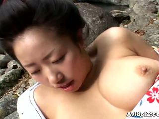 Sexy geisha kotone yamashita fucked lược cứng