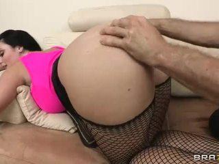 Sophie dee gets viņai sulīga liels dibens filled ar smags loceklis