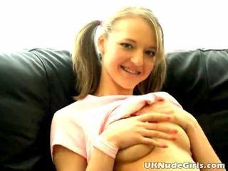 Cutie amateur británica adolescente britney