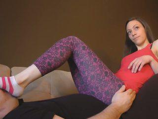 babes, tôn sùng chân, femdom