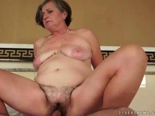 suge, gammel, bestemor