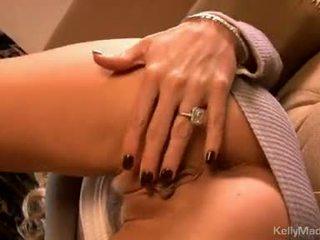 Kelly madison 玩具 她的 moist 性感 上 該 榻