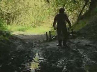 menina, floresta, rape