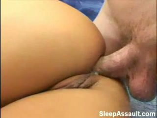 Blonde fucked in her ass while Sleeping