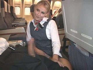 cumshot, rotujenvälinen, stewardess