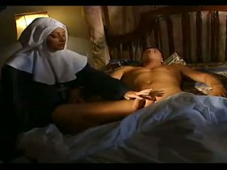 A Nun Healing Cock From It's Cum Load