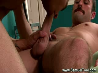 His cock is getting the stud treatment from this horny guy