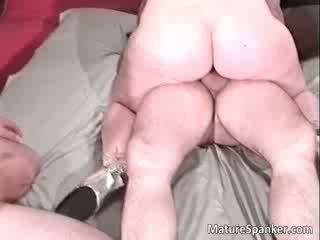 Dirty brunette MILF with big tits