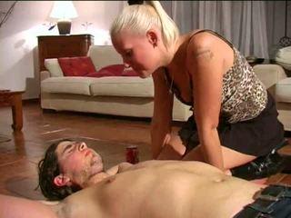 Spitting dominação feminina: grátis bdsm porno vídeo e1