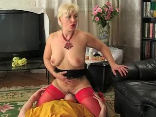 Another blonde mature lady