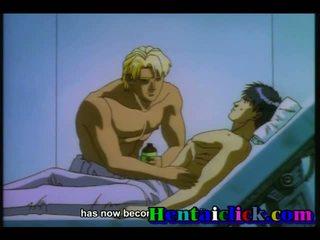 Hot Hentai Gay Gets His Cock Sucked N Fucked