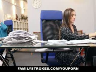 brunette, seks, kantoor