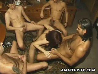 Njijiki amatir moderate with 4 cocks and facials
