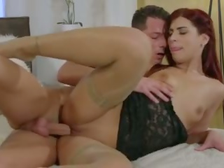MOM Redhead MILF seduces handyman stud with sloppy blowjob and hot fuck
