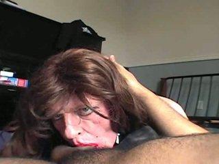 sucking, ansikts, interracial