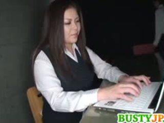 Yuuki Sakurai Has Immense Boobs Licked