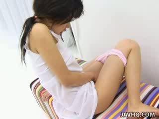 Haruka aida quente asiática miúda solo