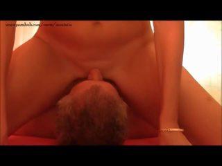 Masturbation & trysk w jego twarz