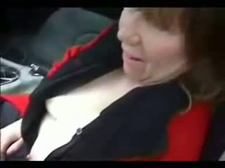 Amateur mature goes dogging with anal