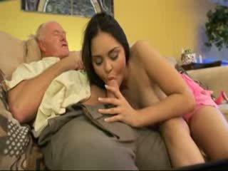 Gammal pappa fan granne youngest dotter video-
