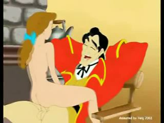 Belle Rides Onto Gaston's Big Cock