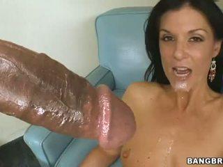 brunette, zuig-, deepthroat