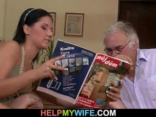 Hubby calls une guy à baise son femme