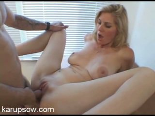Trim, Toned MILF Kate Rides The Younger Stud's Cock.