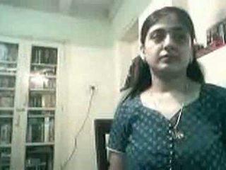 Gravida indisk par knull på webkamera - kurb