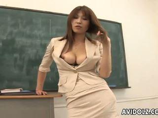 Nóng busty ai kurosawa bẩn giáo viên với to