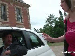 Французька матуся жорсткий banged і jizzed на цицьки по a taxi driver