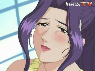 Manga coquette nie ďaleko od obrovský prsia