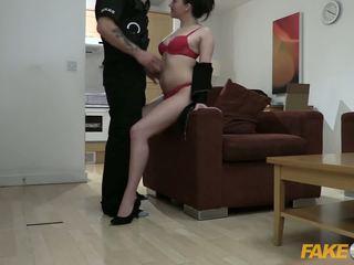 Fake polic zyrë lavire fucked nga policeman