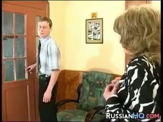 babunia, stary + młoda, rosyjski