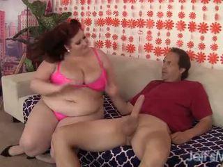 Roodharige plompe eliza allure hardcore anaal seks